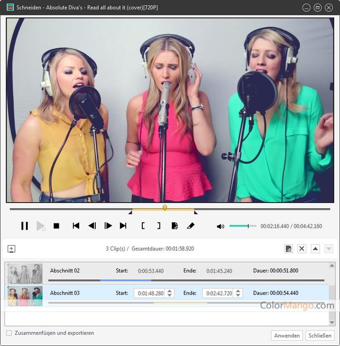 Xilisoft Video Converter Ultimate Bildschirmfoto
