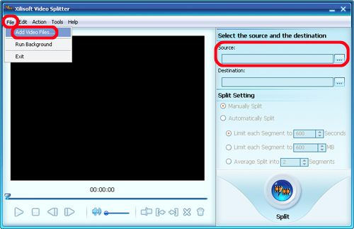 Xilisoft Video Splitter Screenshot