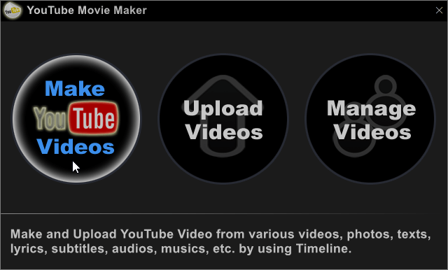 YouTube Movie Maker Screenshot