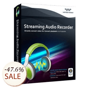 Wondershare Streaming Audio Recorder de desconto
