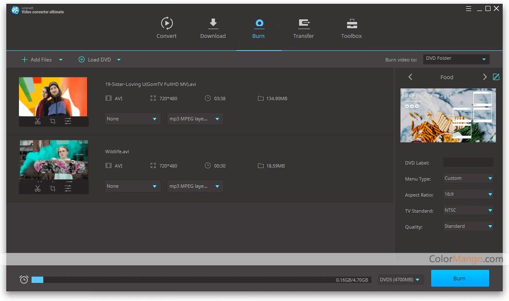 Aimersoft Video Converter Ultimate Screenshot