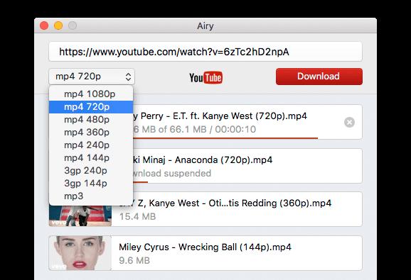 Airy YouTube downloader Screenshot