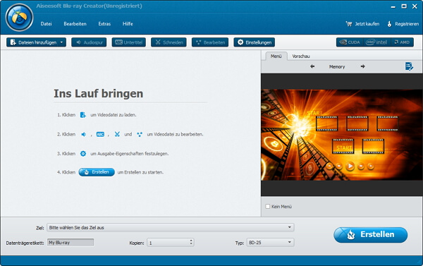 Aiseesoft Blu-ray Creator Screenshot
