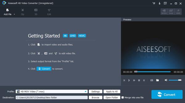 Aiseesoft HD Video Converter Screenshot