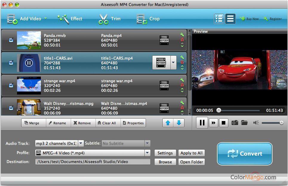 Aiseesoft MP4 Video Converter Screenshot