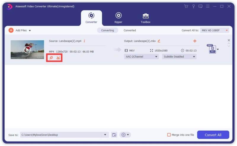 Aiseesoft Video Converter Ultimate Screenshot