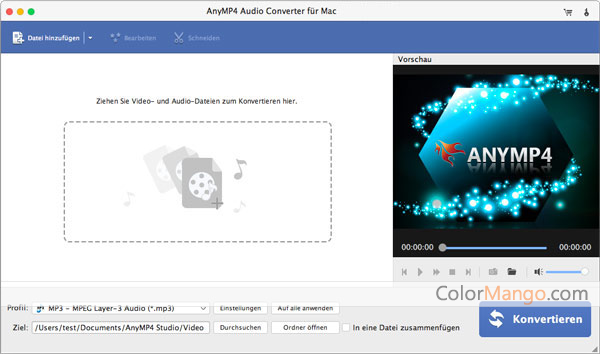 AnyMP4 Audio Converter für Mac Screenshot