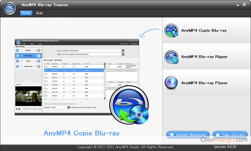 AnyMP4 Blu-ray Trousse Screenshot