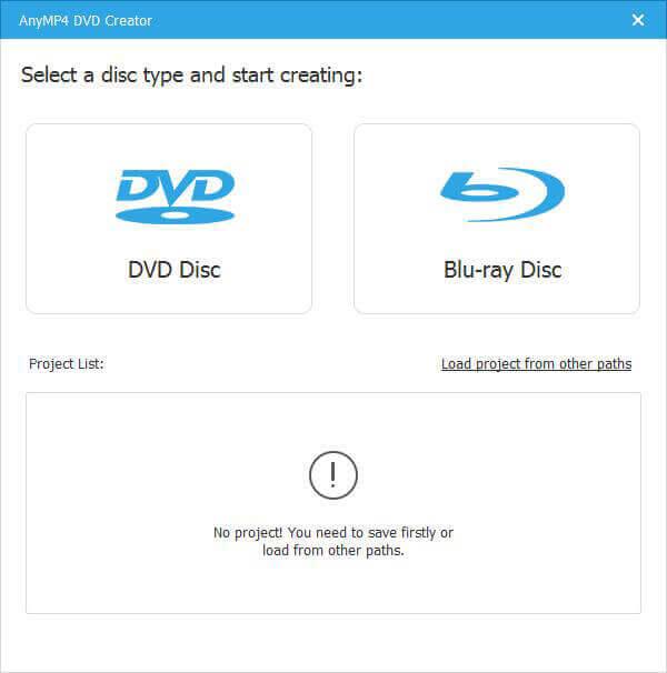AnyMP4 DVD Creator Screenshot