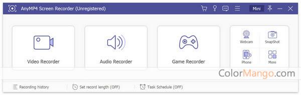 AnyMP4 Screen Recorder Screenshot