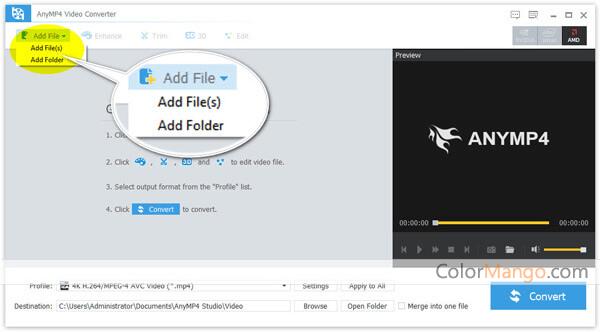 AnyMP4 Video Converter Screenshot