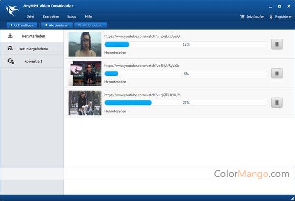 AnyMP4 Video Downloader Screenshot