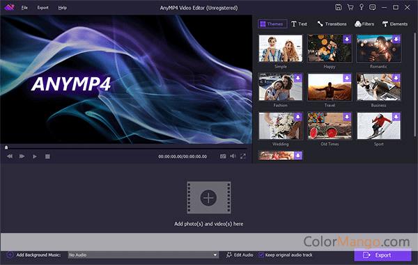 AnyMP4 Video Editor Screenshot