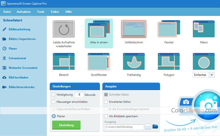Apowersoft Screen Capture Pro Screenshot