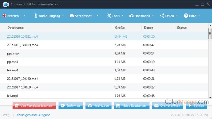 Apowersoft Bildschirm Recorder Pro Screenshot