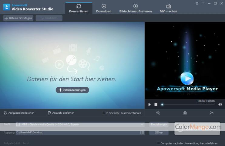 Apowersoft Video Konverter Studio Screenshot