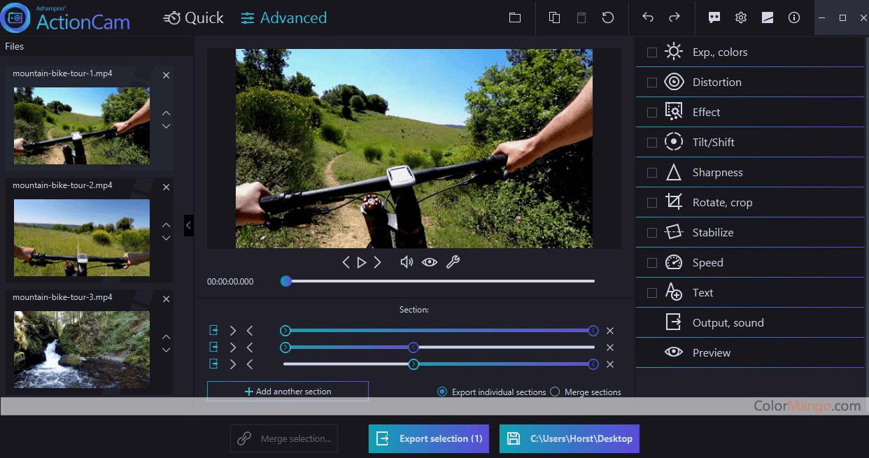Ashampoo ActionCam Screenshot