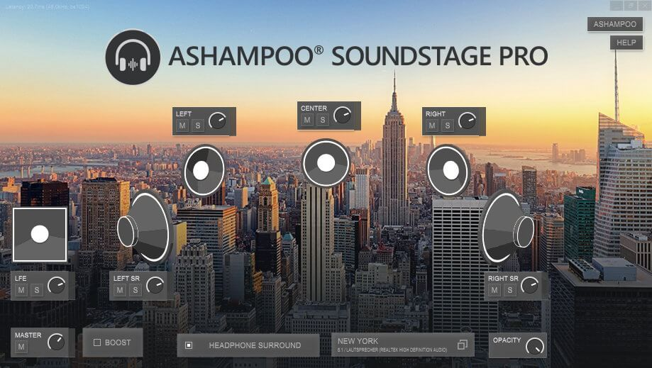 Ashampoo Soundstage Pro Screenshot