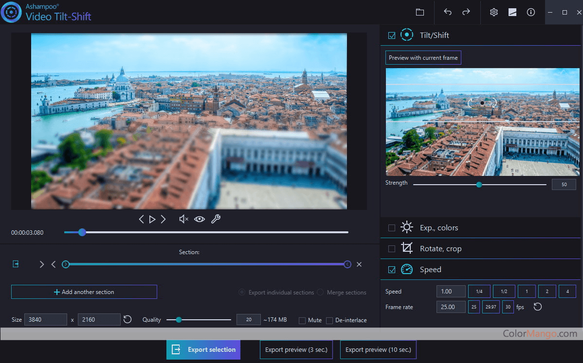Ashampoo Video Tilt-Shift Screenshot