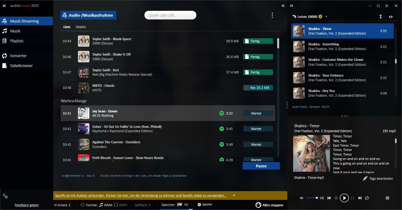 Audials Music Screenshot