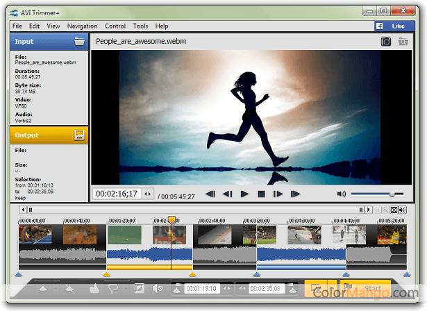 AVI Trimmer+ Screenshot
