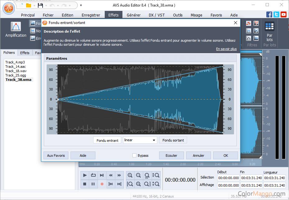AVS Audio Editor Screenshot