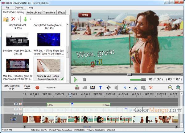 Bolide Movie Creator Screenshot