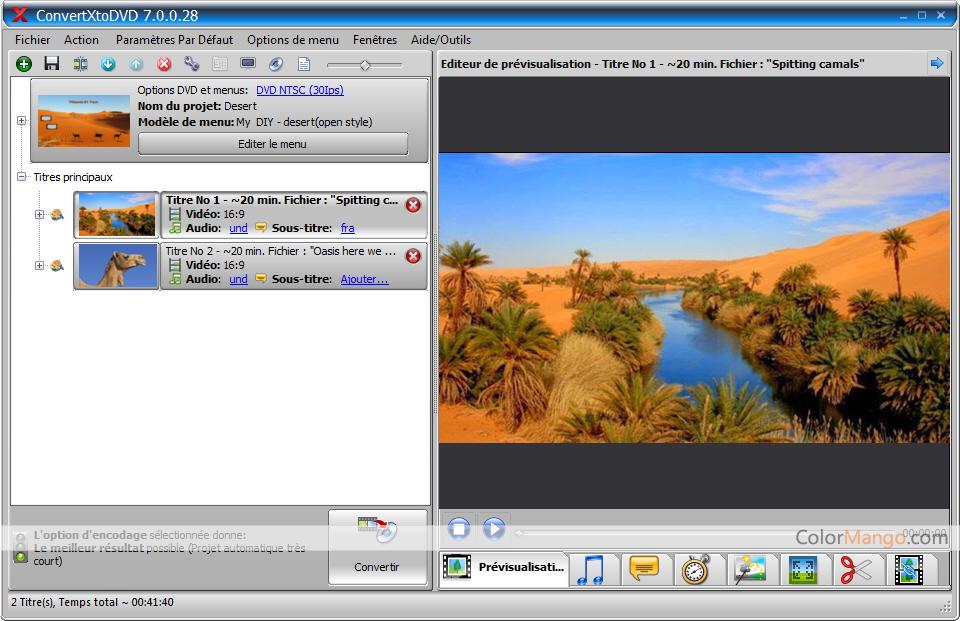 ConvertXtoDVD Screenshot