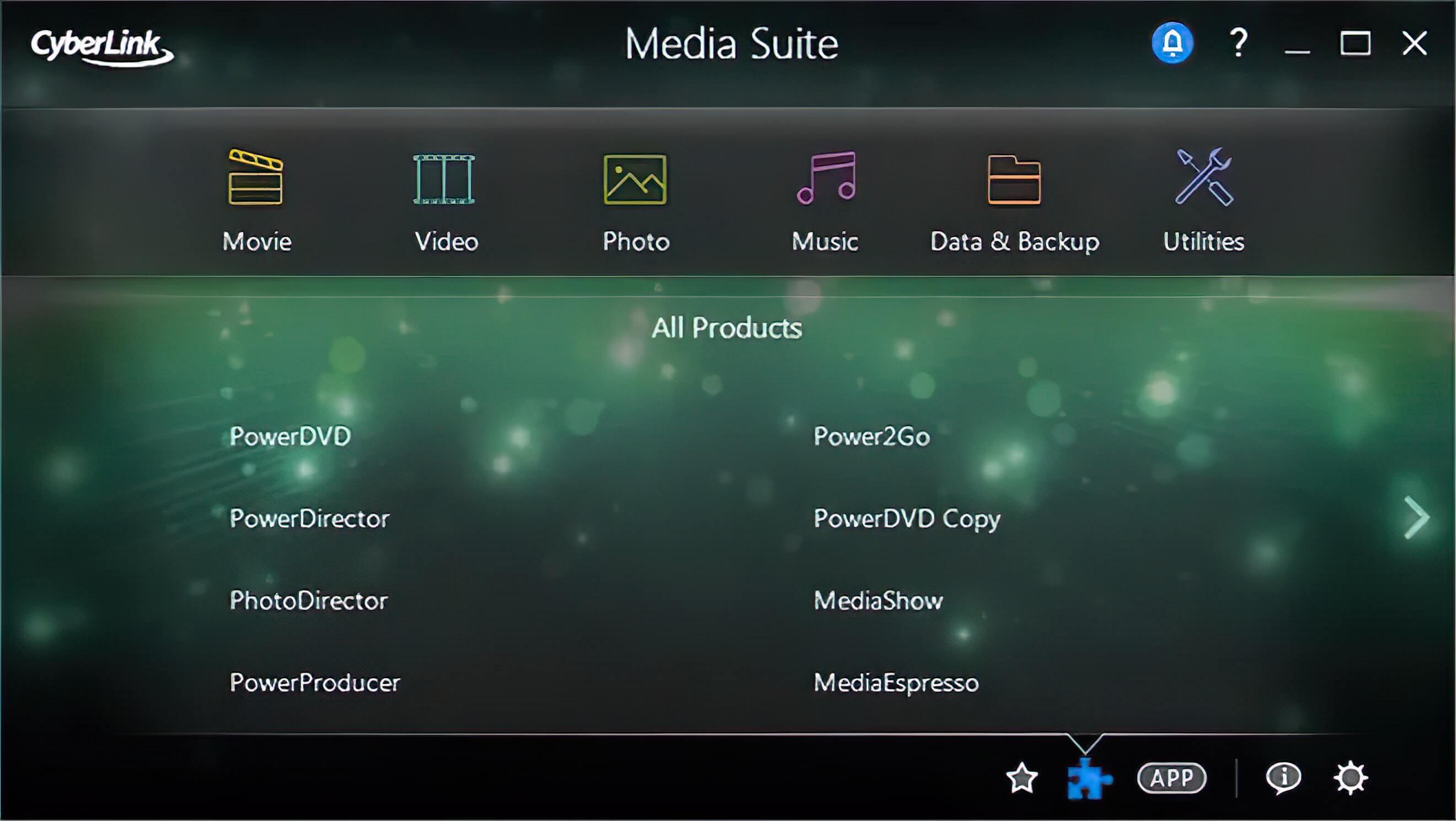 CyberLink Media Suite Screenshot