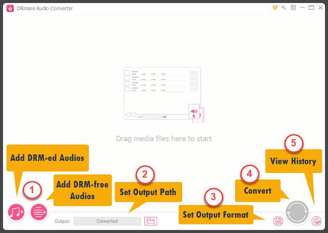 DRmare Audio Converter Screenshot