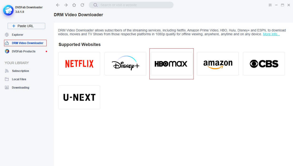 StreamFab HBO Downloader Screenshot