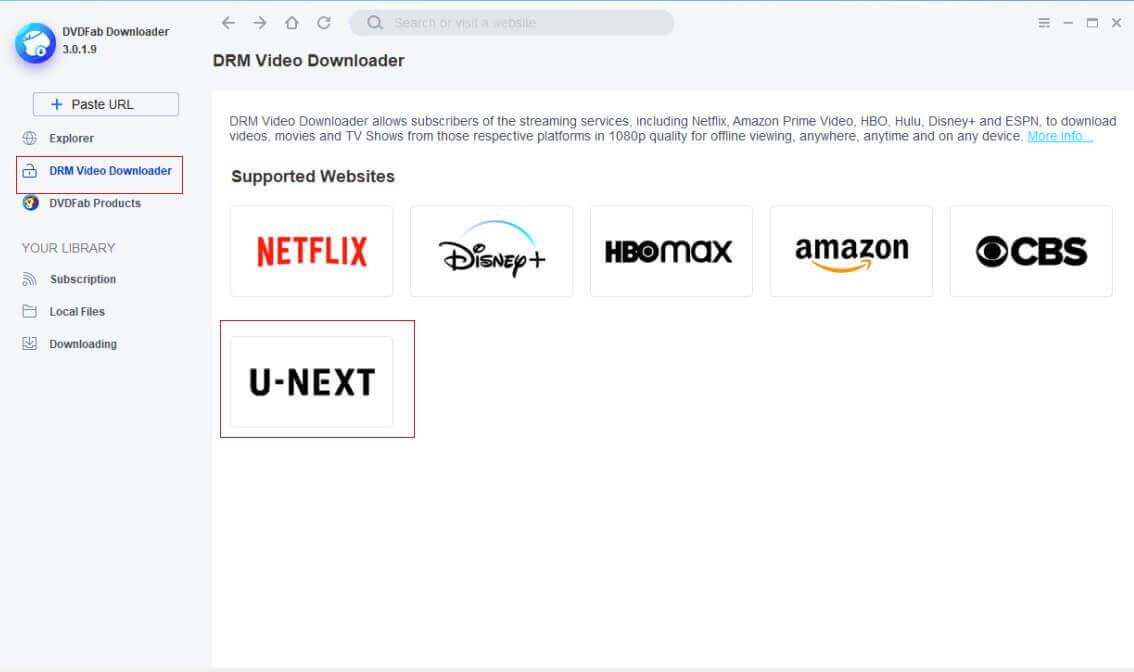 StreamFab U-NEXT Downloader Screenshot