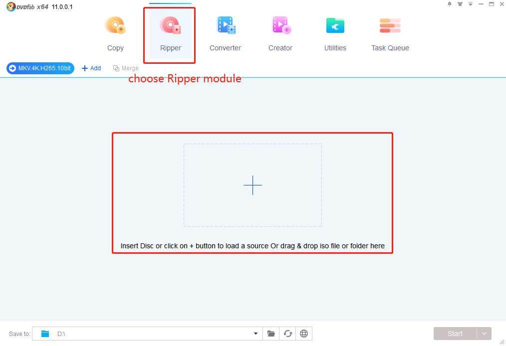 DVDFab UHD Ripper Screenshot