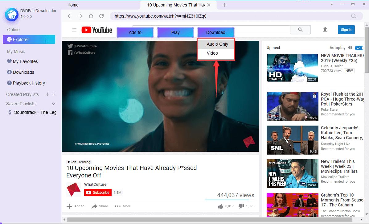 StreamFab YouTube Downloader Screenshot