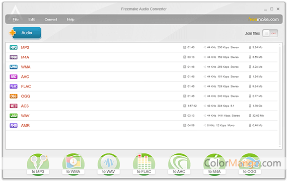 Freemake Audio Converter Screenshot
