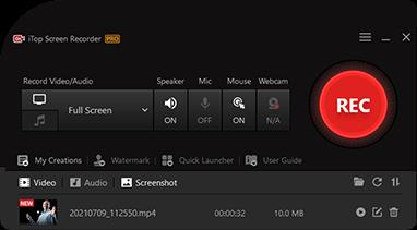 iTop Screen Recorder Screenshot