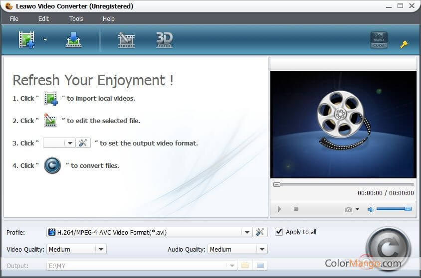Leawo Video Converter Screenshot