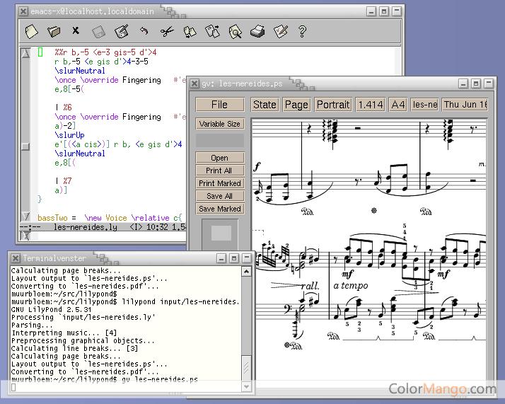 LilyPond Screenshot