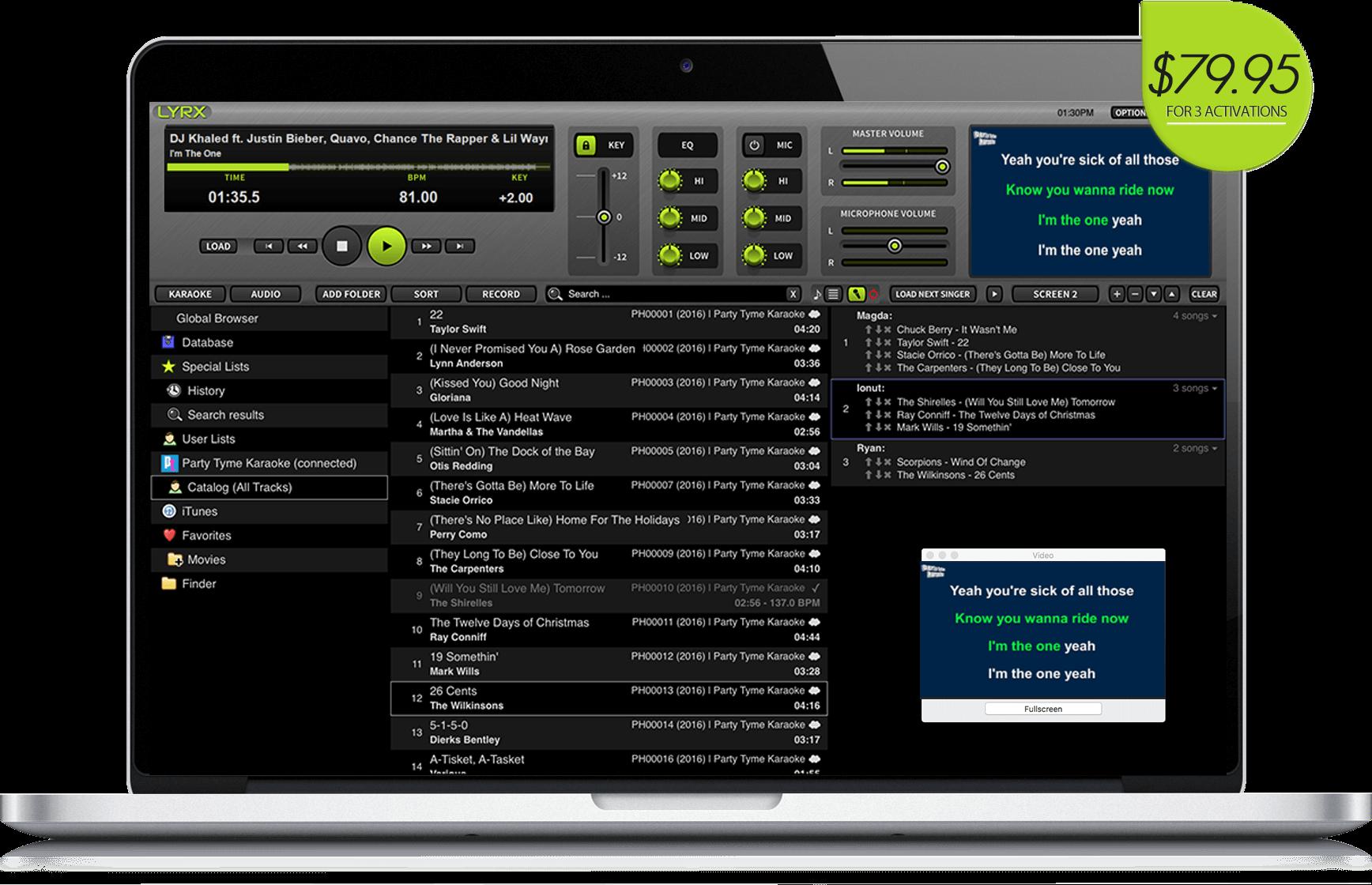 LYRX Karaoke Screenshot