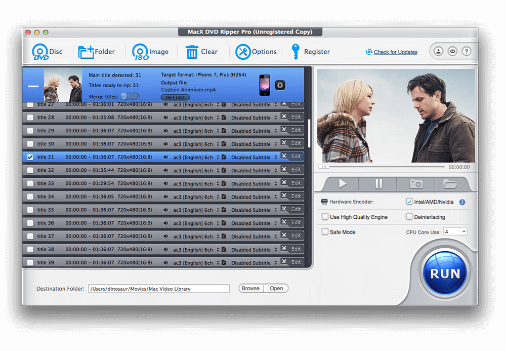 MacX DVD Video Converter Pro Pack Screenshot
