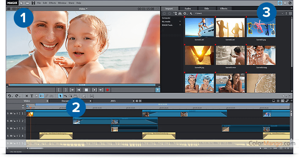 MAGIX Movie Edit Pro Screenshot