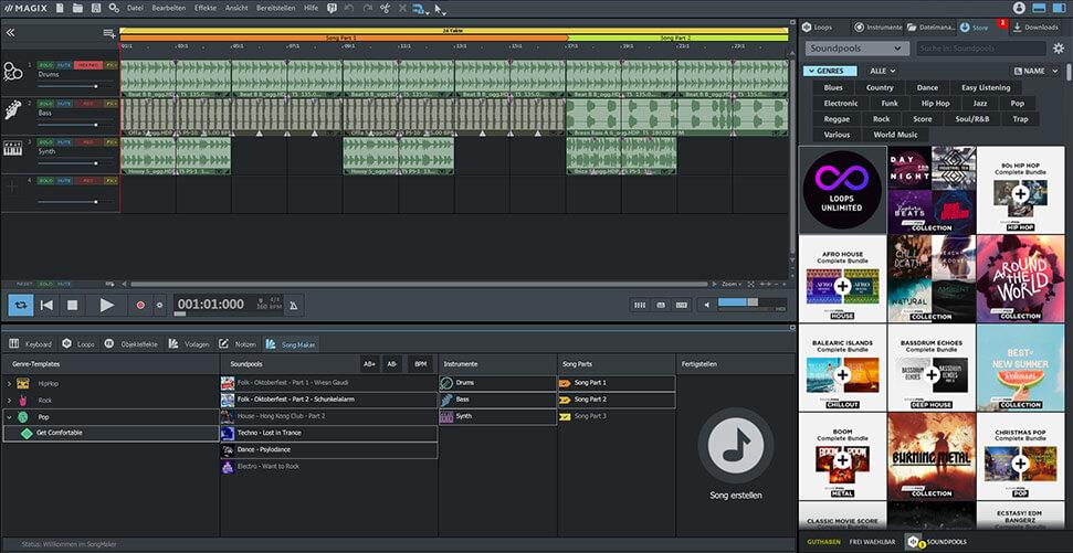 MAGIX Music Maker Plus Screenshot
