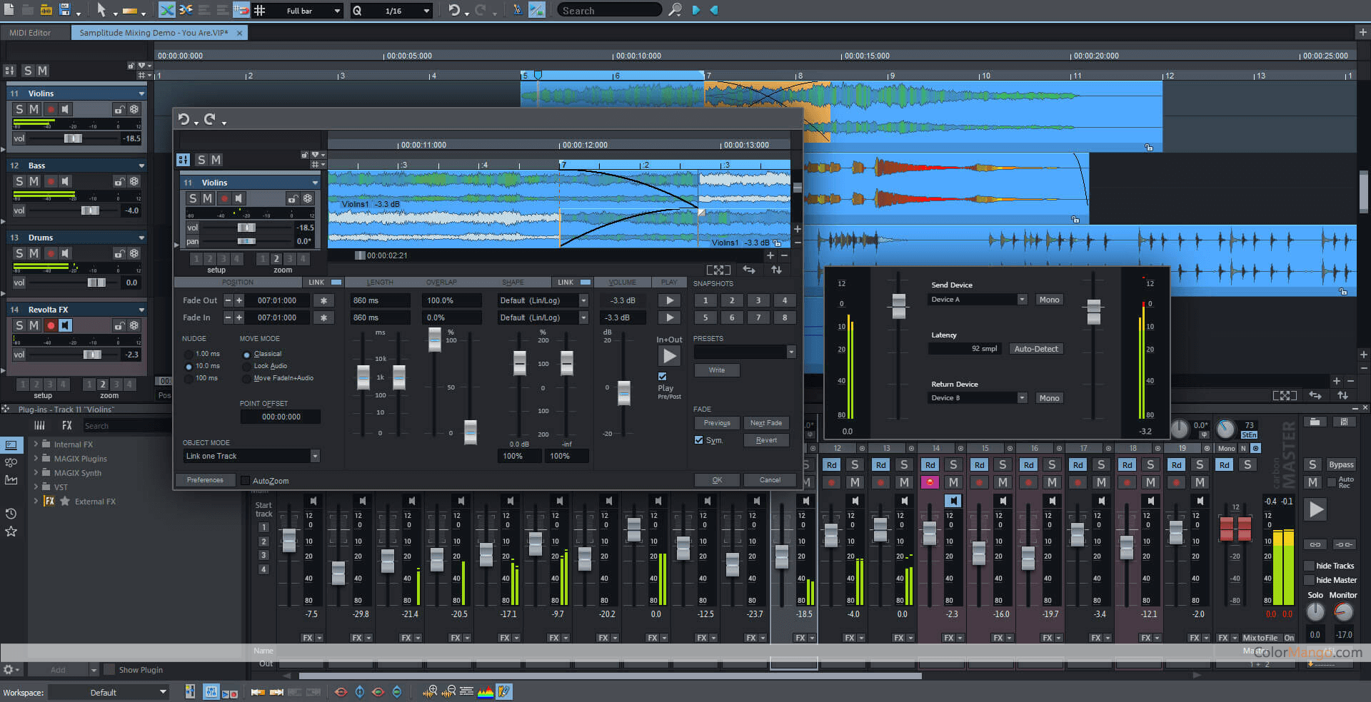 MAGIX Samplitude Pro Screenshot