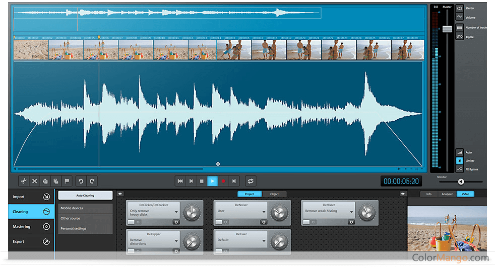 MAGIX Video Sound Cleaning Lab Screenshot