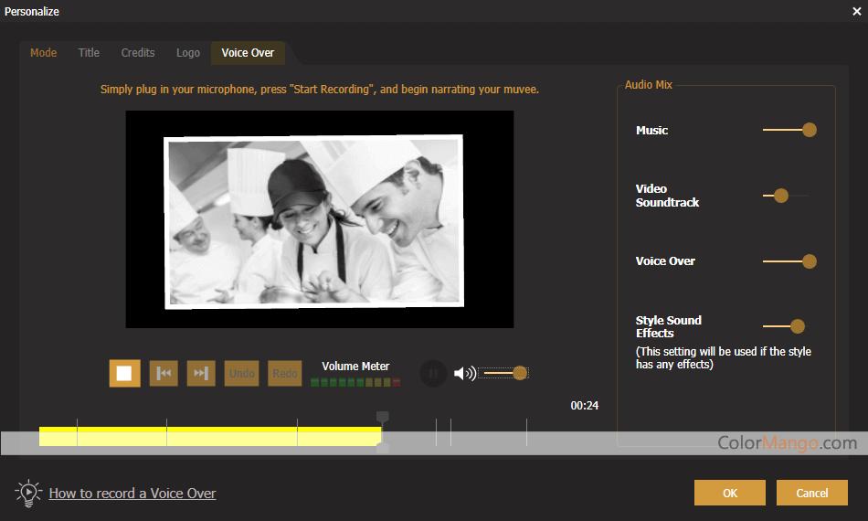muvee Reveal Encore Screenshot