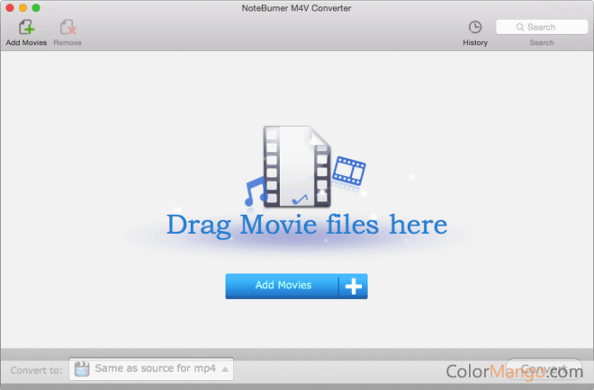 NoteBurner M4V Converter Screenshot