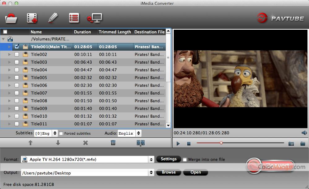 Pavtube iMedia Converter for Mac Screenshot