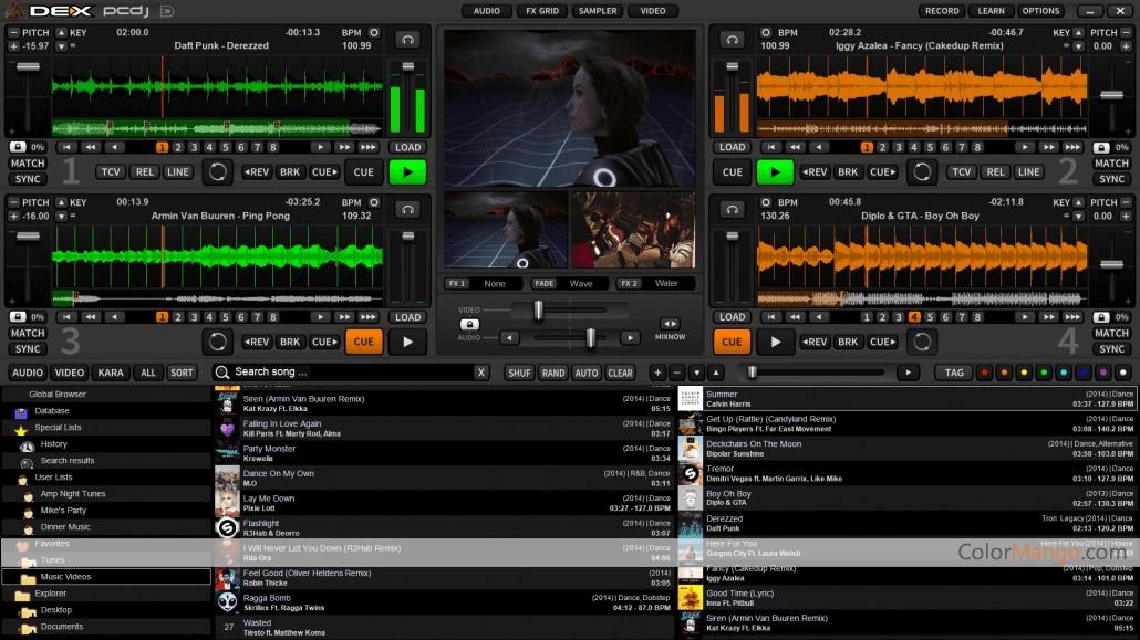 PCDJ DEX 3 Screenshot