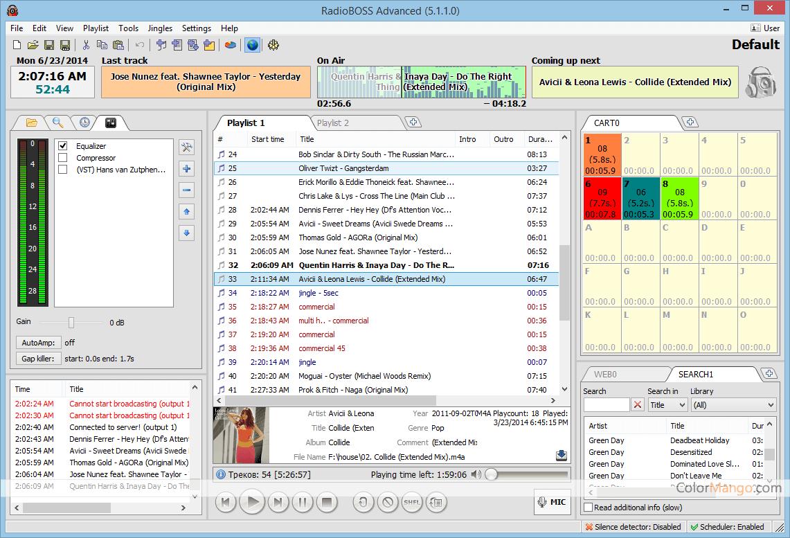 RadioBOSS Screenshot