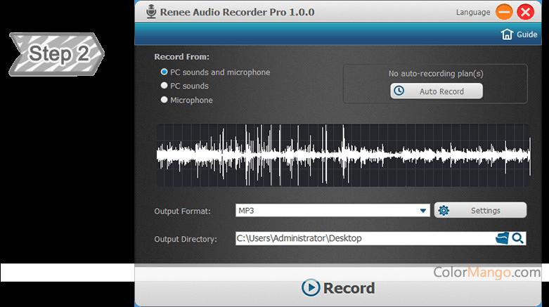 Renee Audio Recorder Pro Screenshot